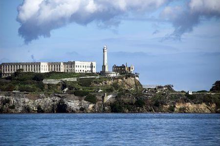 Isla de Alcatraz - la roca - una prisión famosa en la bahía de San Francisco Foto de archivo - 2605963