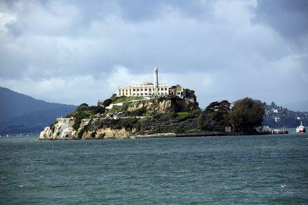 Alcatraz Island in the distance from San Francisco. photo