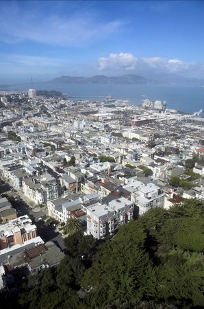 View of San Francisco from Coit Tower area. photo
