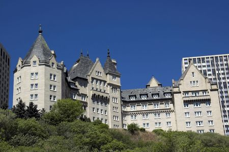 Built in 1915, this is Edmontons most famous landmark hotel along the Saskatchewan river. photo
