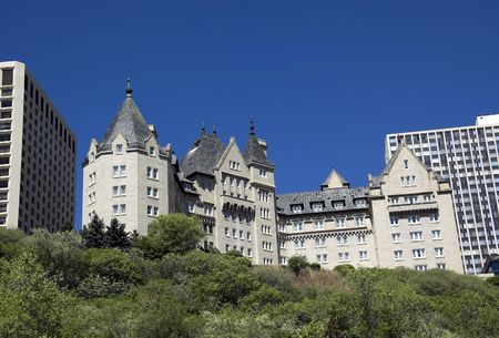 Built in 1915, this is Edmontons most famous landmark hotel along the Saskatchewan river.