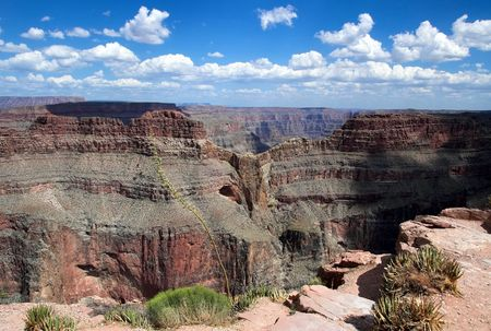 The famous Eagle rock formation at Eagle Point on the West Rim Grand Canyon Arizona. 写真素材