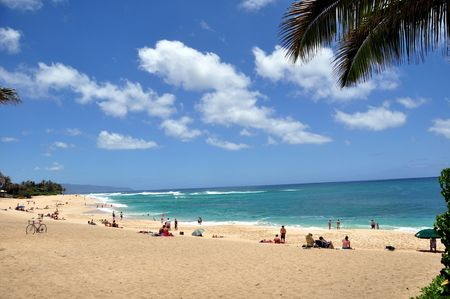 Sunset Beach, North Shore, Oahu, Hawaii Stock Photo - 7433610
