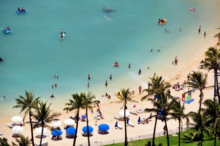 Waikiki Beach. Oahu, Hawaii