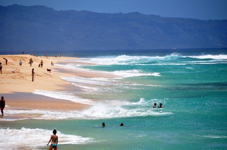 Sunset Beach, North Shore, Oahu, Hawaii  Stock Photo