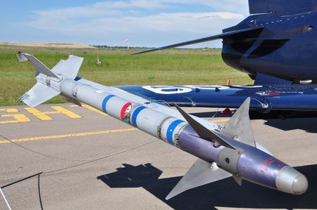 Captive Air Training Missile (CATM) with inert warhead and rocket motor for training purposes.  Stock Photo