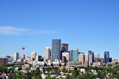 Skyscrapers towering over Calgary Alberta Canada Stock Photo - 10034232