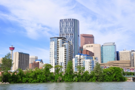 Office towers towering over Calgary, Alberta Stock Photo - 14224381