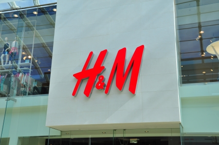 H M signage and mall entrance in Calgary, Alberta