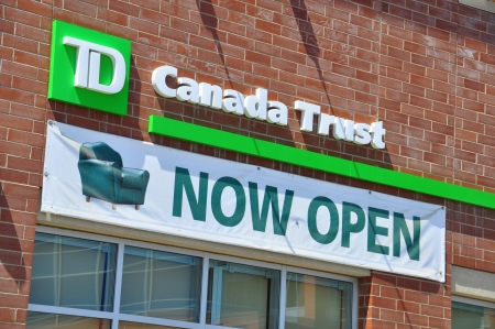 td: Opening of a new TD Canada Trust bank branch in urban Calgary Editorial