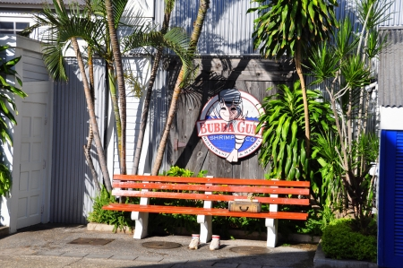 Landmark Bubba Gump restaurant on the Lahaina, Maui waterfront  Stock Photo - 14542094