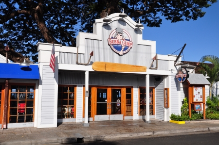 Landmark Bubba Gump restaurant on the Lahaina, Maui waterfront  Stock Photo - 14542090
