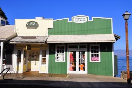 Old Lahaina storefronts on the Lahaina, Maui waterfront  Lahaina