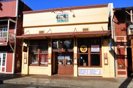 Old Lahaina storefronts on the Lahaina, Maui waterfront  Lahaina  新聞圖片