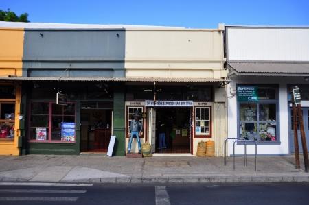 ラハイナに古いラハイナ店舗、マウイ島のウォーター フロント ラハイナはかつてだったハワイ、捕鯨工業に家の首都今では多くの歴史的建造物と美