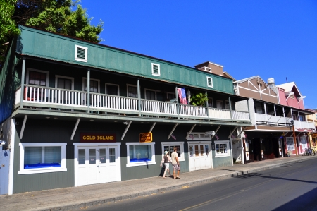 Old Lahaina storefronts on the Lahaina, Maui waterfront  Lahaina
