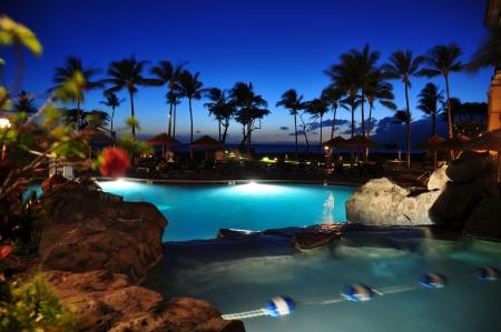 View from luxury hotel, Kaanapali, Maui, Hawaii  photo