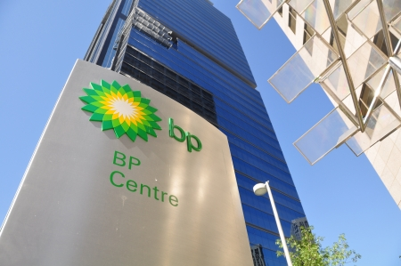 developers: CALGARY, ALBERTA - SEPTEMBER 21: - BPs Canadian head office in Calgary Alberta on September 21, 2012. BP is one of the developers of the Alberta Oilsands, and a global energy company based in the UK.