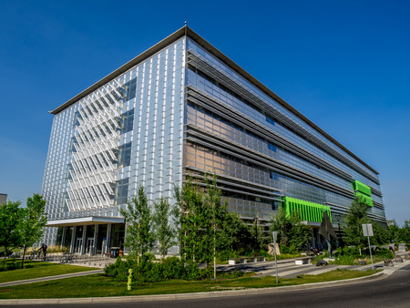experiential: The Energy, Environment and Experiential Learning center at the University of Calgary on July 13, 2014 in Calgary, Alberta Canada  The building is a new high tech facility