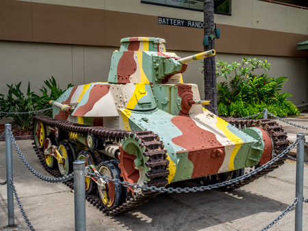 Japanese light tank outside of the U S  Army Museum of Hawaii  Ft  DeRussy Armed Forces Recreation Center Editöryel