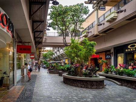 Beauitful Ala Moana shopping center in Waikiki