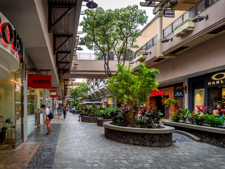Beauitful Ala Moana shopping center in Waikiki