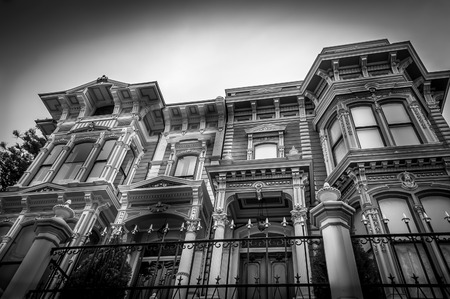 Old Victorian houses in a row in San Francisco.