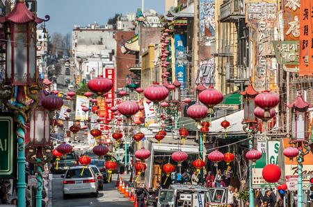 準備進行中の中国の旧正月、サンフランシスコで。