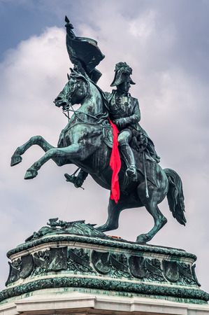 elite: Eugene of Savoy monument at the Hofburg In vienna. Editorial