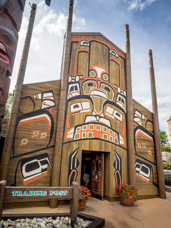 haida indian: Canadian Pavilion at the World Showcase at Epcot Center, Disney World.