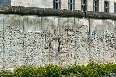 barrier free: Berlin Wall fragment in Berlin, Germany, Europe.