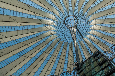 sony: Roof of the Sony Center on Potsdamer Platz in Berlin, Gemany on May 8, 2006. Sony Center is a Sony-sponsored building complex located at the Potsdamer Platz.