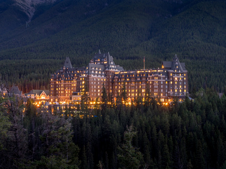 The Banff Springs Hotel at night