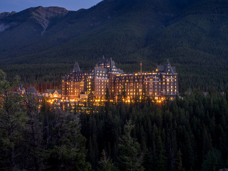 edith: The Banff Springs Hotel at night