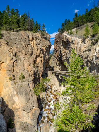 Sinclair Canyon outside the village or Radium Hot Springs. Sinclair Canyon is the main pass through the Rocky Mountains in Kootenay National Park.
