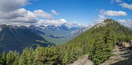 Banff  panorama view from Sulphur Mountain in Alberta, Canada