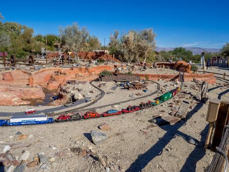 PALM DESERT, CALIFORNIA - NOV 22: Railroad and City Miniature is displayed at Living Desert Zoo on November 22, 2015 in Palm Desert, California. Redakční