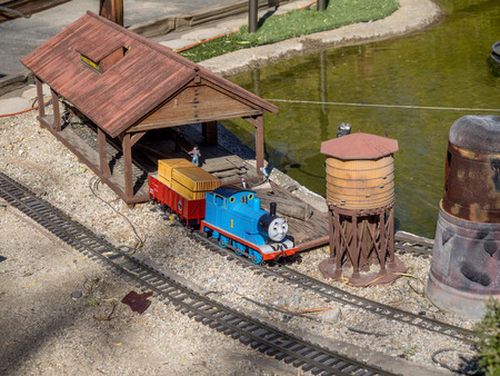 palm desert: PALM DESERT, CALIFORNIA - NOV 22: Railroad and City Miniature is displayed at Living Desert Zoo on November 22, 2015 in Palm Desert, California. Editorial