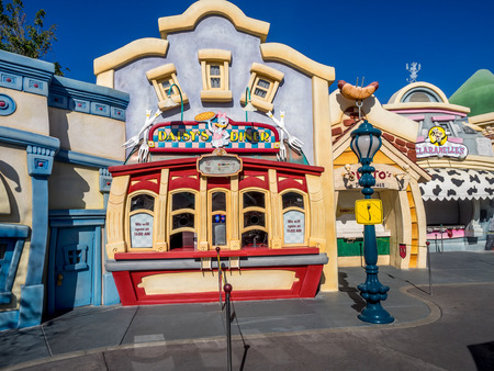 daisys: ANAHEIM, CALIFORNIA - FEBRUARY 12: Daisys Diner in the Toontown section of  Disneyland on February 12, 2016 in Anaheim California. Disneyland is Walt Disneys original theme park. Editorial