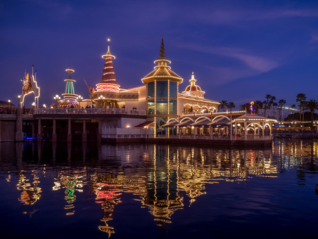 rafters: ANAHEIM, CALIFORNIA - FEBRUARY 14: Ariels Grotto restaurant at Paradise Pier at Disney California Adventure Park on February 14, 2016. Disney California Adventure Park is themed after the history and culture of California.