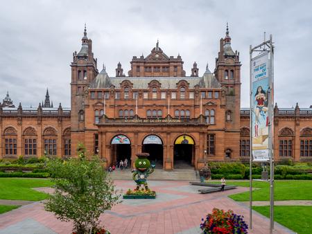 グラスゴー、スコットランド - 7 月 21 日: ケルヴィングローブ美術館と 2017 年 7 月 21 日にグラスゴー スコットランド イギリスの博物館の外観ファサ