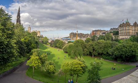 EDINBURGH, SCOTLAND - JULY 26: Princes Street Gardens On July ...