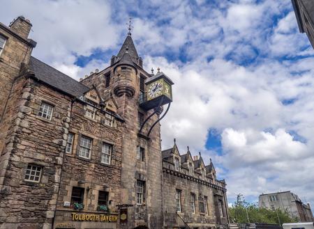 EDINBURGH, SCOTLAND - JULY 28: The Tolbooth Tavern on the Royal Mile on July 28, 2017 in Edinburgh, Scotland. The Royal Mile has many historic pubs. Editorial