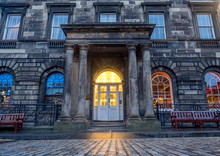 EDINBURGH, SCOTLAND - JULY 28:Neros Cafe on the Royal Mile in the Old Town on July 28, 2017 in Edinburgh Scotland. The Royal Mile is the most popular attraction in Edinburgh.