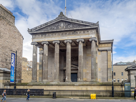 EDINBURGH, SCOTLAND - JULY 30:Surgeons Hall Museum in the Old Town on July 30 2017 in Edinburgh, Scotland. Initially established as a medical teaching resource, all are now welcome to visit