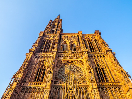 Cathedrale Notre-Dame or Cathedral of Our Lady of Strasbourg in Alsace, France.