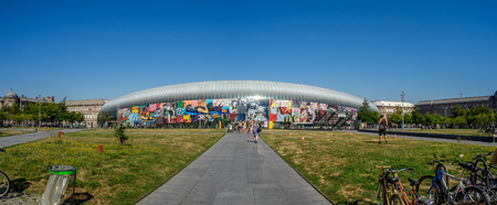 trasbourg, France - July 25, 2018: Exterior of the Strasbourg train station in the summer. Gare de Strasbourg is the main rail hub for the region.