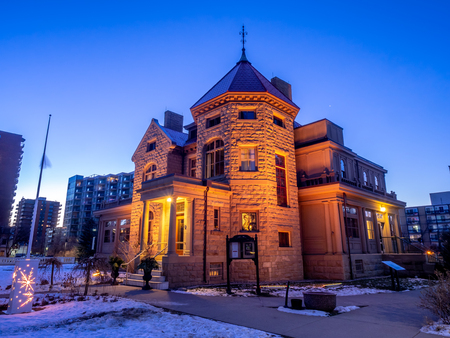 Lougheed House in Calgary Alberta. Also known as Beaulieu, was home to Senator James Alexander Lougheed, Lady Isabella Hardisty Lougheed It is now restored as a museum, restaurant and heritage property Imagens - 124911899