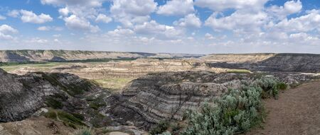 View of Horsethief Canyon in the Alberta badlands close to Drumheller.