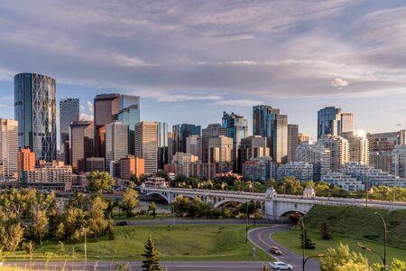 Sweeping skyline view of Calgary, Alberta Canada